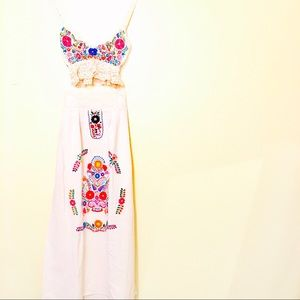 Mexican Dress Embroidered Skirt and Top